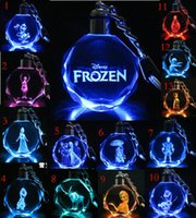 Wholesale Colorful luminous frozen necklace Strange new toy doll frozen style necklace pendant upscale crystal jewelry fashion sale TL