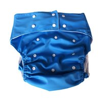 Wholesale washable Adult cloth diaper reusable double leg gusset diaper for disabled and old women and man pc