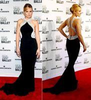 bell cocktail dresses - Zuhair Murad Elegant Evening Dresses Jewel Beading Sexy Back Long Kristen Bell Wears Black Prom Cocktail Party Gowns Vestidos