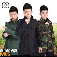 Wholesale US export outdoor leisure windbreaker jacket M65 camouflage satin fabric waterproof windproof windbreaker