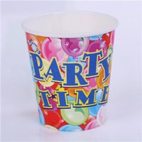 baby drinks - Eco Friendly Disposable Paper Cup Birthday Party Cartoon Color Drinking Cup Degradable Safe for Baby SD940