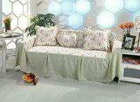 Wholesale 100 cotton green color korean style Home Decor sofa cover jacquard Sofa towel