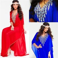 Cheap 2015 Fashion Arabic Dubai Abaya Evening Dresses Half Sleeve Beading Crystal Kaftan India Formal Party Dress Mother of the Bride Dress Gowns