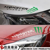 Wholesale Ghost light eyebrows stickers personalized car stickers reflective stickers car scratches signature decorative garland can be customized con