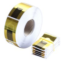 Wholesale 500 Roll Golden Nail Form Art Primer Tip Extension tool for Acrylic UV Gel nail tools