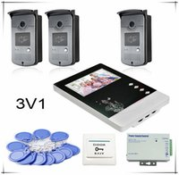 """Cheap 3v1New 4.3"""" Color video door phone intercom doorbell home security 1 Monitor 3 RFID Access SONY 700TVL, Clearer Video!HD Camera"""