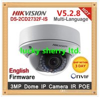 ip camera network camera - V5 Original Hikvision ip camera DS CD2732F IS New High Quality ZOOM lense MP HD IR security network ip dome cameras support POE
