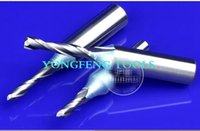Wholesale 1piece TCT quot mm shank slot double two flute sprial trimming CNC router bits wood engraving
