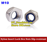 best lock nuts - NEW Arriver M10 Nylon Insert Lock Hex Nuts Slip resistant M10 Self locking Nut stainless steel best choice order lt no track