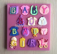 Wholesale Cute and Lovely Baby Boy And Baby Girl Shape Fondant Cake Molds Tools Decorating cooking tools fondant