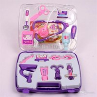 Wholesale New Education Multicolor Children Medical Kit Toy doctor play set medicine box Pretend Play Doctor Set