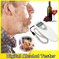 Wholesale Alcohol Breath Tester Safe Driving Single LCD Displayer Analyzer Pocket Digital Alcohol Breathalyzer Detector Test Testing