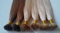 Wholesale Hot Sale Top Grade Blonde Flat Tip Hair Extension Virgin Eurasian Hair a grade Virgin Remy TOP Quality Peruvian Human Hair