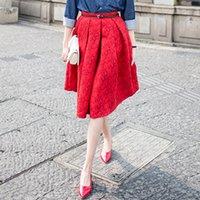 american work apparel - New Faldas Summer Style Vintage Skirt High Waist Work Wear Midi Skirts Womens Fashion American Apparel Jupe Femme Saias