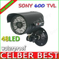 Cheap CCTV 600TVL High Resolution 48IR Sony CCD Security camera Outdoor Camera System with Bracket