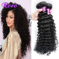 Wholesale On Sales Peruvian Deep Wave Hair a Peruvian Virgin Hair Remy Hair Extensions Unprocessed Virgin Peruvian Hair Deep Wave Pervian Weaves