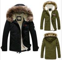 men fur coat - New Men s Warm Jackets Parka Outerwear Fur lined Winter Long Coat Hooded DH04