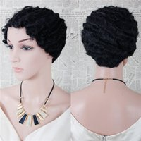Wholesale New Arrival woman long Synthetic Hair kinky curly afro Synthetic micro braided wigs for black women color black B