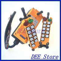Cheap 10 channels 1 Speed 2 transmitters Hoist Crane Remote Control System Emergency-Stop