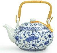 porcelain teapot white - Tea cup set ceramic teapot suit blue and white porcelain Kung Fu tea set Jingdezhen double deck large way set special price