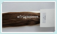 """Cheap 18""""~28"""" Indian Straight Africaqueen Hair Extensions Prebonded natural color Human Remy Hair Flat Tip Hair Extensions in stock free shipping"""