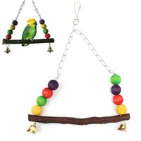Wholesale New Wooden Bird Parrot Swing Toy Parakeet Cockatiel Canary Finch Budgie Cage Aviary