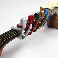 Wholesale High Quality Aluminium Alloy New Black Quick Change Clamp Key Acoustic Classic Guitar Capo For Tone Adjusting Z00240