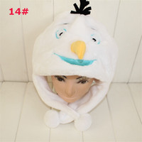 Wholesale Frozen Hat Olaf Snowman Hat Autumn and Winter Hat Inspired by Olaf the Snowman Plush Trapper Hat Adults Kids Warm for Party Dress Christmas