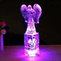 Wholesale Angel Crystal Gift for Wedding LED Crystal Present