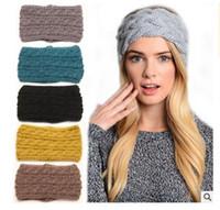 Wholesale Crochet Women Headbands Winter Women Girls Headwrap Ear Warmer Headband Knit Warmer Hairband Colors Christmas Gifts