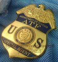 alcohol tobacco - 2016 Rushed American Metal Badge Russian Military Uniform Souvenirs Us Alcohol Tobacco Firearms Atf Agents Specialagent Badge