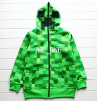 cotton sweater - Creeper Hoodie MINECRAFT Hoodie Creeper Coat Creeper jacket JJ Pattern US youth size for kids boys Cotton Sweater Sandbox game