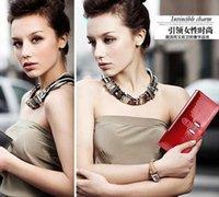 Wholesale Cheap Designed Handbags - 2015 Guaranteed 100% Genuine Leather Wallet Women Handbags Wallets Clutch Bags Hot Sale Brander Design crocodile wallet for cheap