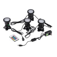 Wholesale Hot EU US Plug LED Submersible Underwater Pond Fish Tank Lamp With Remote Control