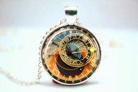 astronomical photos - 10pcs Astronomical Clock Pendant lock Necklace Prague necklace Glass Photo Cabochon Necklace