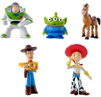Wholesale 5pcs Mini Toy Story Buzz Woody Playset Characters Display Figures Kid Girl Boy Toy Cake Toppers Decor