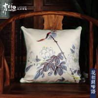 Wholesale Christmas promotion JIXIANGJIA Chinese style Suede Pillow Cover pillow case home use hotel use