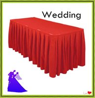 Wholesale Hot Sale ft Polyester wedding Table Skirt Conference Office Table skirting