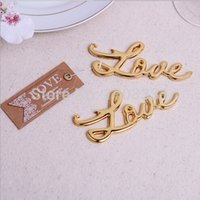 best showers - 2015 NEW ARRIVAL Best Quality Chrome gold Love Bottle Opener Wedding Bridal Shower Favors and Gift For Guest WDX