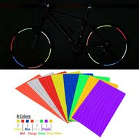 bicycle wheel stickers - Cool Style Bicycle Reflective Stickers Bike Fluorescent Decal Wheel Rim Accessories Reflection Paster for Outdoor Cycling B014