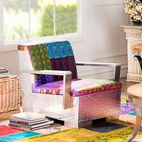 Wholesale Odd ranks yield Cady pop style with handmade cloth fabric soft bag aluminum skin Armchair Chair paragraph C s