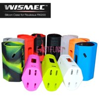 Wholesale Wismec Reuleaux RX200 Box Mod Silicone Cover Case Holder For RX200 Mod Protective Case Cover Colorful Skin For Vaporizer RX200