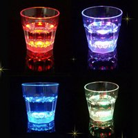 plastic beer cup - 8 cm Dreamlike LED Plastic Activated Flashing Whiskey beer Cup Wine Mug For Party House DecorIndoor Lighting