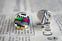 alloy testing - 10pairs TV Test card Cufflinks lds Mormons ctr Cuff Gift for Him Round Glass Cuff