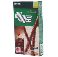 almonds snacks - Lotte Pepero Chocolate Stick Korea Delicious Snack Deliver from Korea boxes Almond Flavor Korea Food