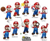 mario figures - Super Mario Figures Toy Doll PVC Play Super Mario Games Style Basketball Table Tennis Stars Volleyball Golf Collection SM0094
