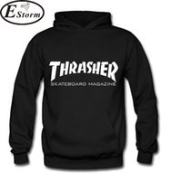 Wholesale Hot Move s Style Fashion Clothing Printing With Letter About THRASHER Hoodies Sweatshirts Size M XL Casual Brand Clothing