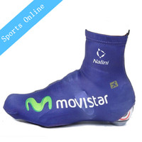Wholesale NEW Shoe Cover Cycling shoes Team movistar bicycle shoe covers waterproof Road Cycling ciclismo Shoe Protector