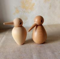 Wholesale Handmade Natural Beech Birdy Shape Toothpick Holder Wood Craft