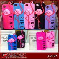pink flamingos - Victoria s Secret Pink Creative Cartoon Flamingo Phone Cases for iPhone Silicon Cases